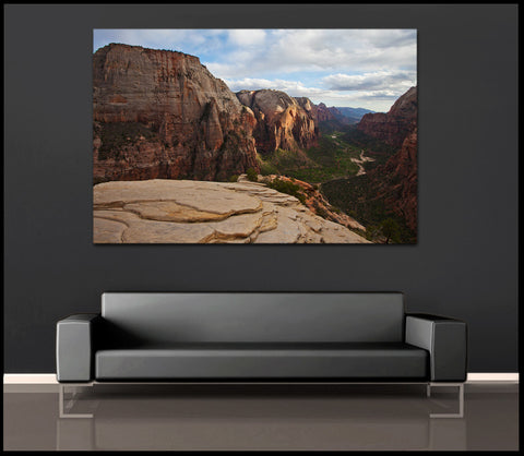 """Zion Valley Sunset"" Utah Fine Art Gallery Wrapped Canvas Print"