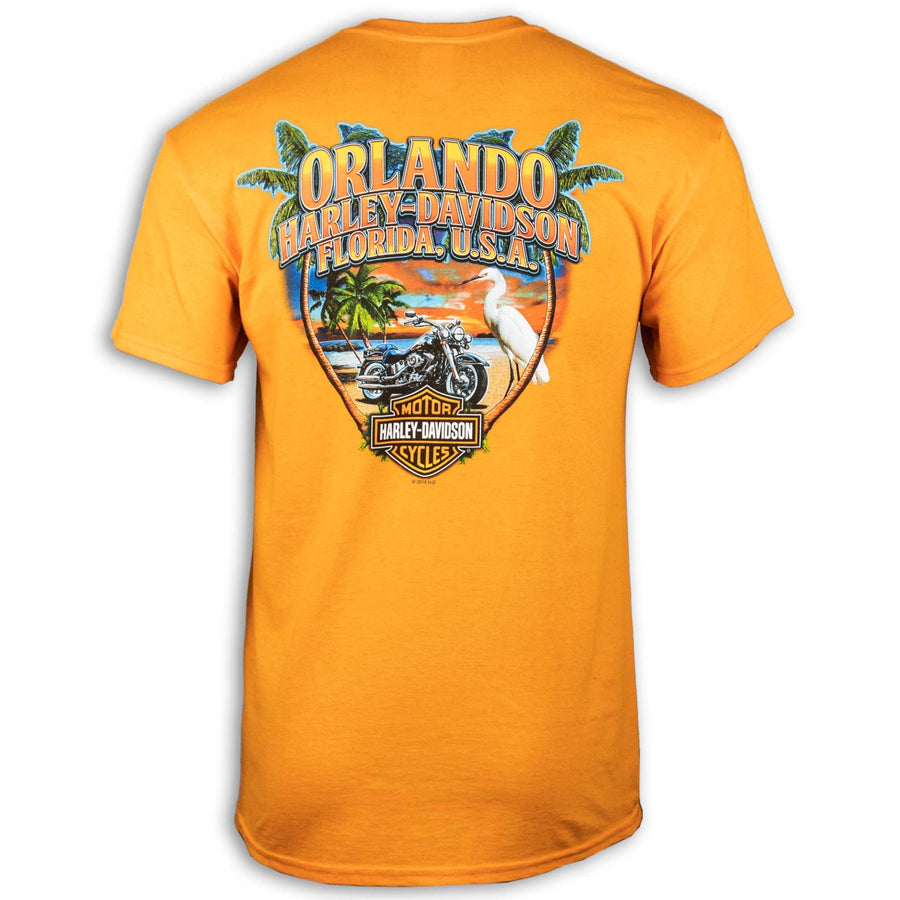 Orlando Tropical Sunset T-Shirt Orange