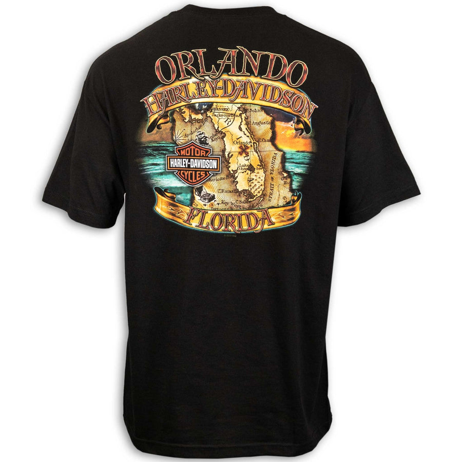 Orlando Pirate Map T-Shirt Black