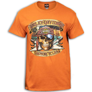 Orlando Pirate Map T-Shirt Texas Orange
