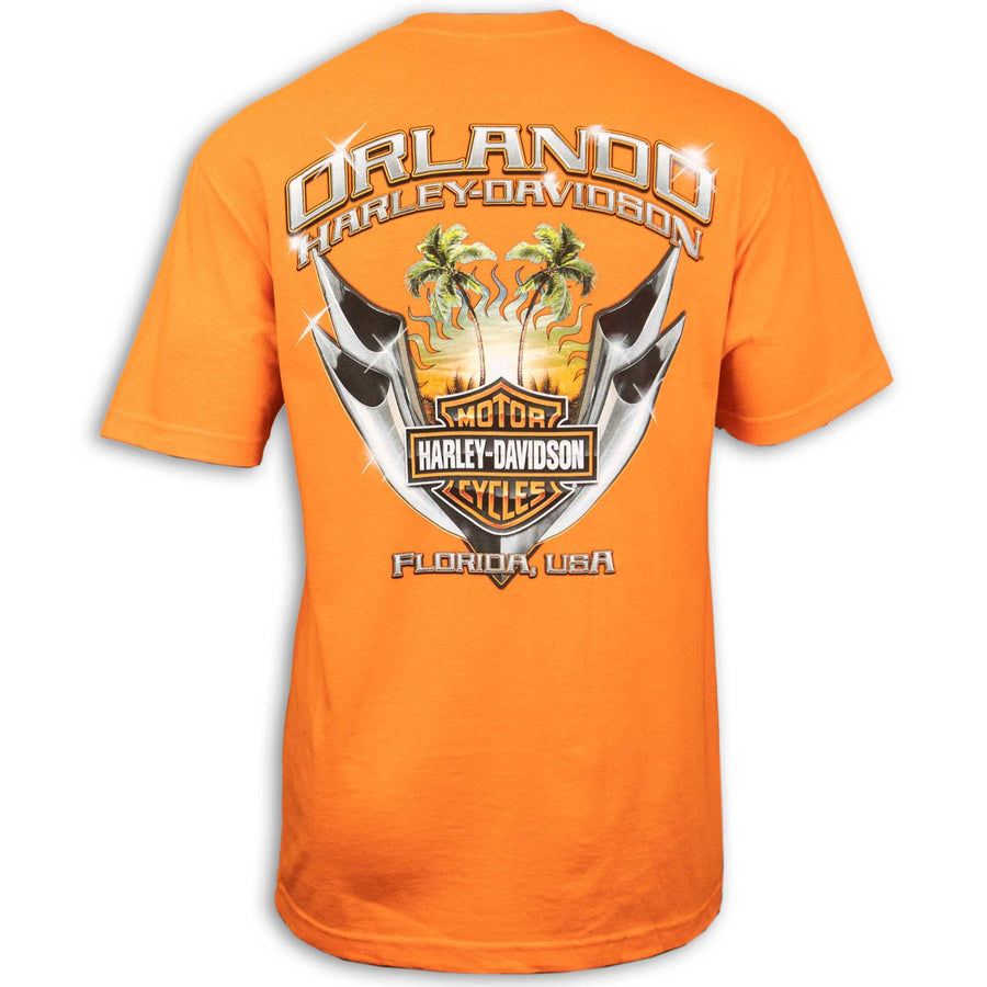 Orlando Chrome Pipes T-Shirt Orange