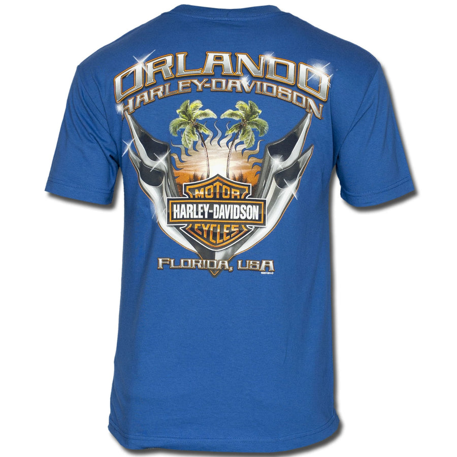 Orlando Chrome Pipes T-Shirt Blue
