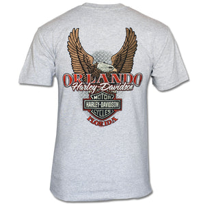 Orlando Traditional Eagle T-Shirt Gray