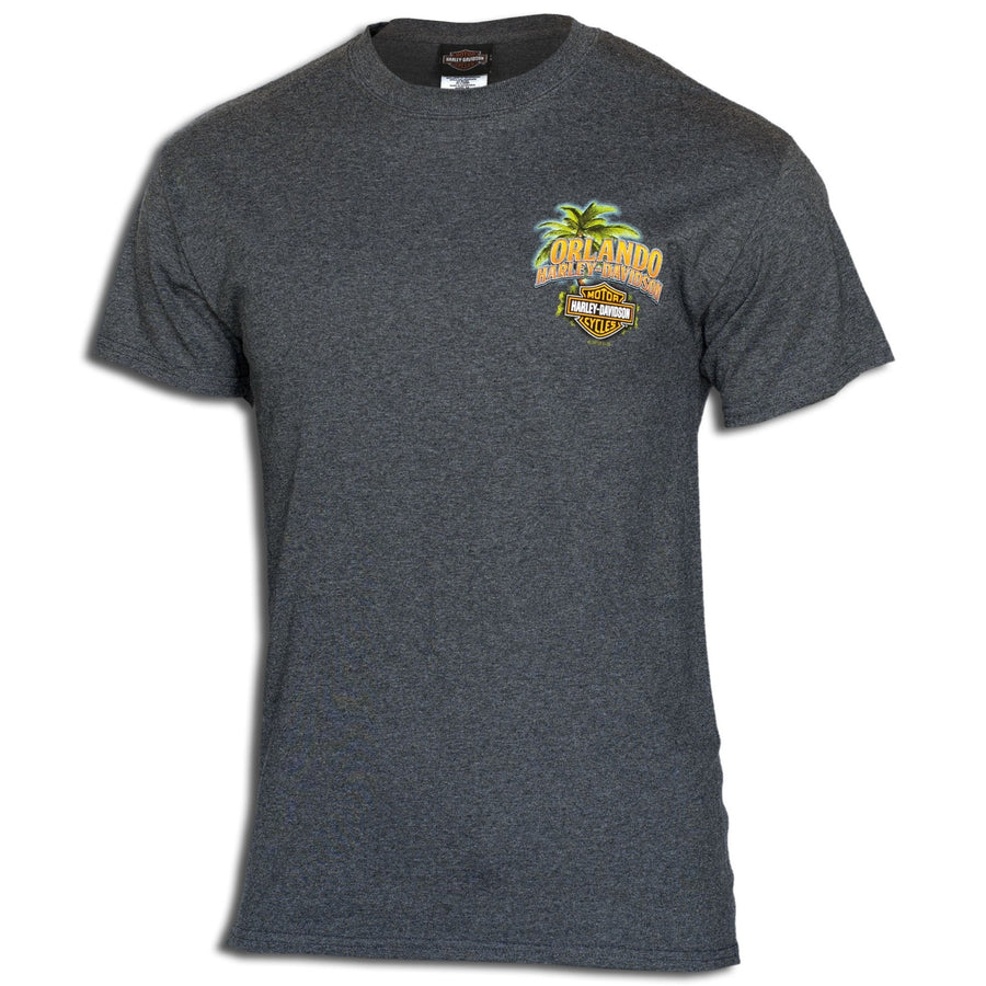 Orlando Tropical Sunset T-Shirt Charcoal
