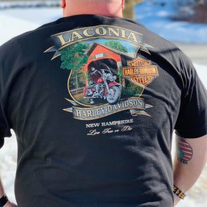 Laconia Covered Bridge T-Shirt Black