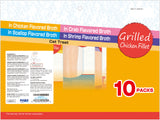 Grilled Chicken Fillet Variety Bag 10 pieces
