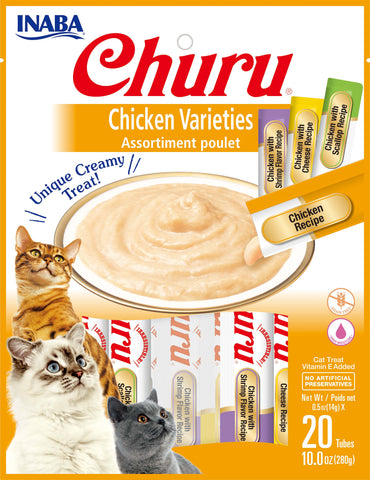 Churu Chicken Varieties Bag 20 Tubes