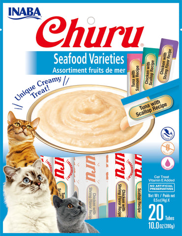 Churu Seafood Varieties Bag 20 Tubes