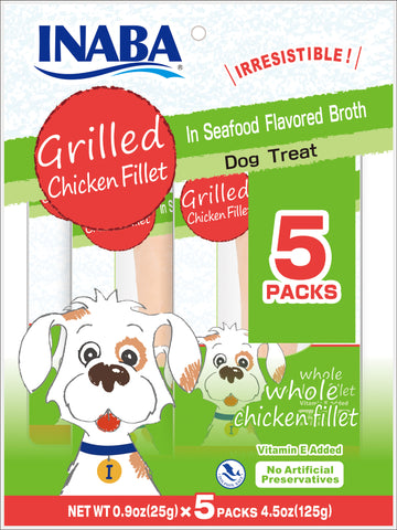 Grilled Chicken in Seafood Broth for Dogs 5P