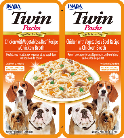 Twin Packs - Chicken with Vegetables & Beef Recipe in  Chicken Broth