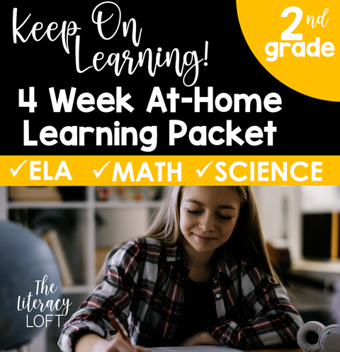 4 Week At Home Learning Packet (2nd Grade) | Distance Learning | Google Slides