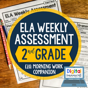 ELA Weekly Assessments {2nd Grade} | Distance Learning | Google Forms
