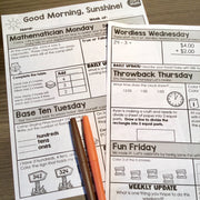 ELA + Math Morning Work 2nd Grade {The Bundle} | Distance Learning | Google Slides