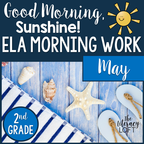 ELA Morning Work 2nd Grade {May} | Distance Learning | Google Slides