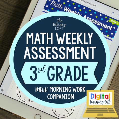 Math Weekly Assessments {3rd Grade} | Distance Learning | Google Forms