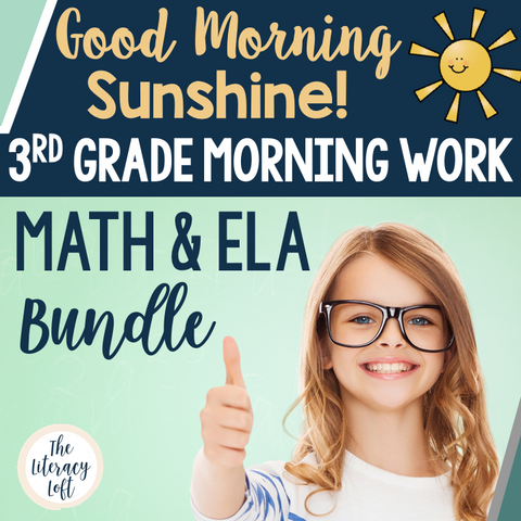 ELA + Math Morning Work 3rd Grade {The Bundle} | Distance Learning | Google Slides
