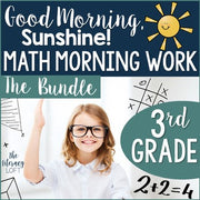 Math Morning Work 3rd Grade {The Bundle} | Distance Learning | Google Slides