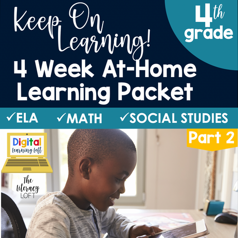 At Home Learning Packet Part 2 (4th Grade) | Distance Learning | Google Slides