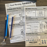 Math Morning Work 4th Grade {The Bundle} | Distance Learning | Google Slides