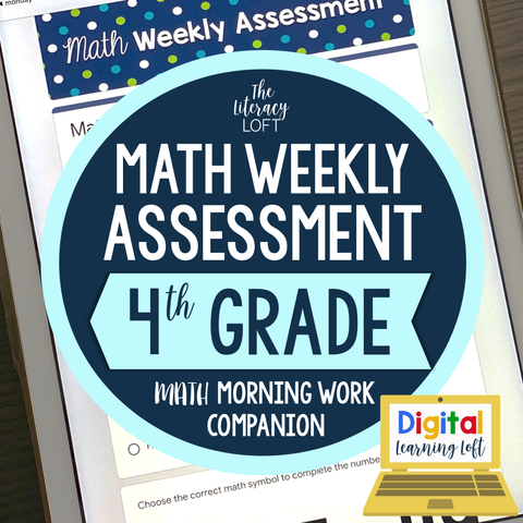 Math Weekly Assessments {4th Grade} | Distance Learning | Google Forms