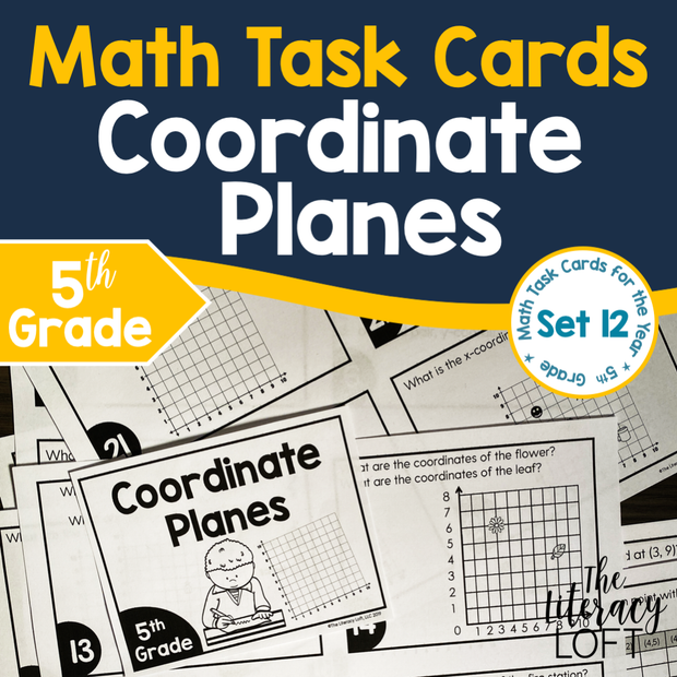 Coordinate Planes Task Cards (5th Grade) | Distance Learning