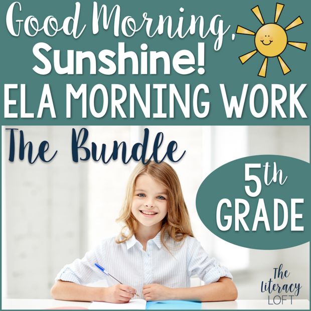 ELA Morning Work 5th Grade (The Bundle) | Distance Learning | Google Slides