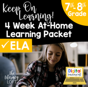 4 Week At Home Learning Packet (ELA ONLY 7th-8th Grade) | Distance Learning | Google Slides