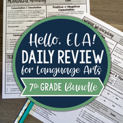 ELA Daily Review 7th Grade Bundle