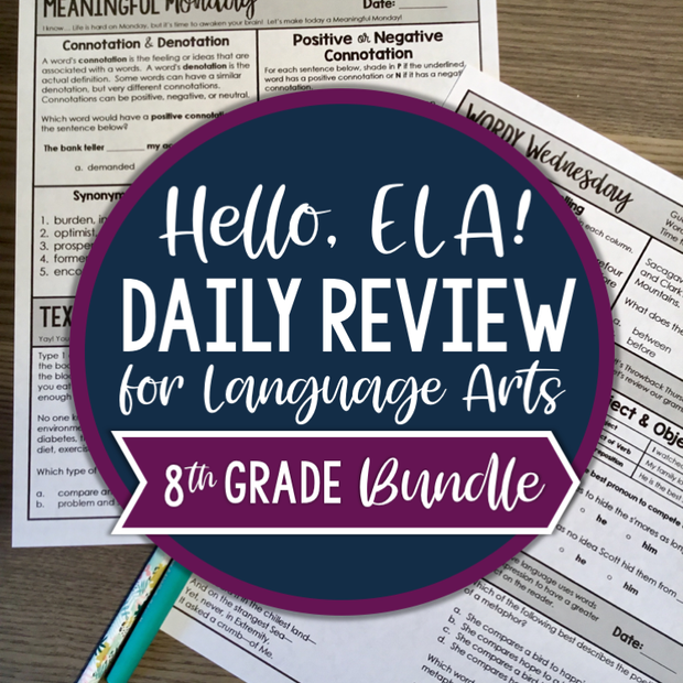 ELA Daily Review 8th Grade Bundle