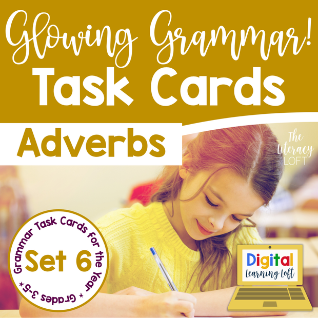 Adverbs Task Cards | Distance Learning | Google Slides & Forms