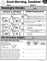 ELA Morning Work 2nd Grade {April} GOOGLE SLIDES + PRINT