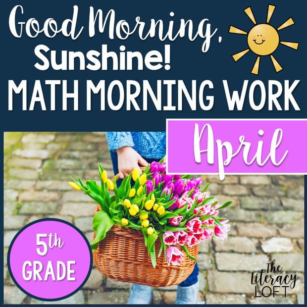 Math Morning Work 5th Grade {April} | Distance Learning | Google Slides