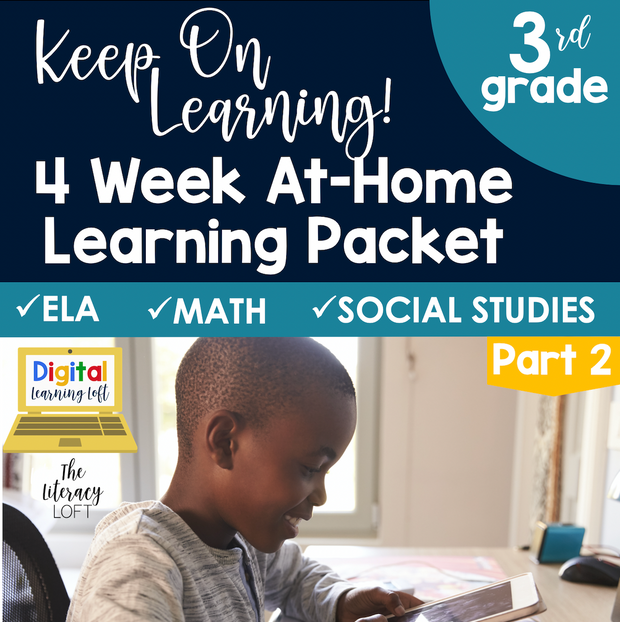 4 Week At Home Learning Packet Part 2 (3rd Grade) | Distance Learning | Google Slides