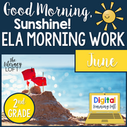 ELA Morning Work 2nd Grade {June} | Distance Learning | Google Slides
