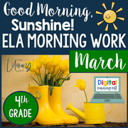 ELA Morning Work 4th Grade {March} | Distance Learning | Google Slides