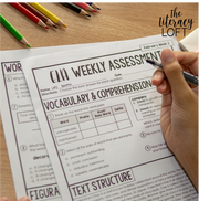 ELA Weekly Assessments {6th Grade}  | Distance Learning | Google Forms