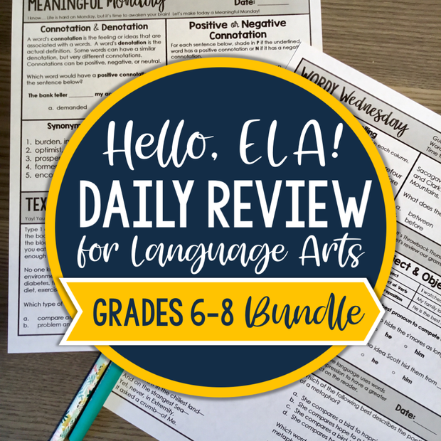 ELA Daily Review 6th - 8th Grade Bundle