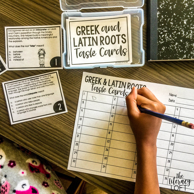 Greek and Latin Roots Task Cards
