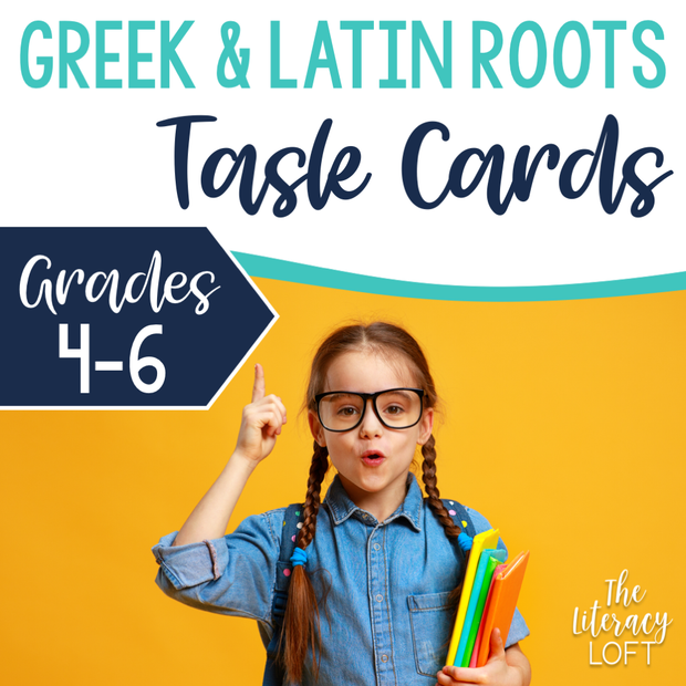 Greek and Latin Roots Task Cards | Distance Learning | Google Slides and Forms