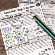 ELA Morning Work 2nd Grade {Bundle} | Distance Learning | Google Slides