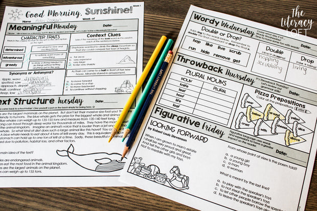 ELA Morning Work (3rd Grade) Bundle