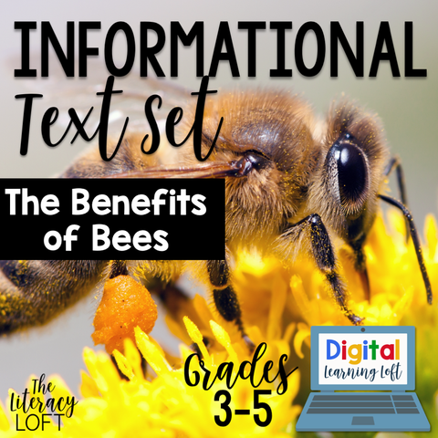 Informational Text Set {The Benefits of Bees} | Distance Learning | Google Slides