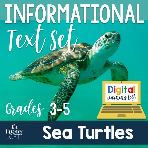 Informational Text Set {Sea Turtles} | Distance Learning | Google Slides