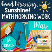 Math Morning Work 1st Grade {May} | Distance Learning | Google Slides