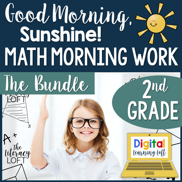 Math Morning Work 2nd Grade {The Bundle} | Distance Learning | Google Slides