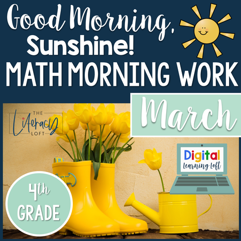 Math Morning Work 4th Grade {March} I Distance Learning I Google Slides