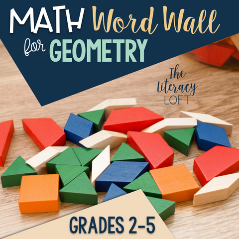 Math Word Wall-Geometry Vocabulary