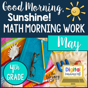 Math Morning Work 4th Grade {May} | Distance Learning | Google Slides