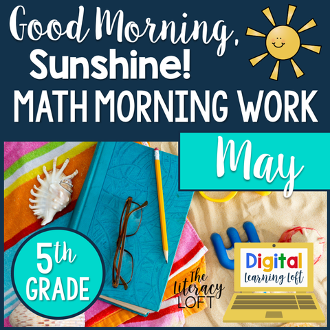 Math Morning Work 5th Grade {May} | Distance Learning | Google Slides