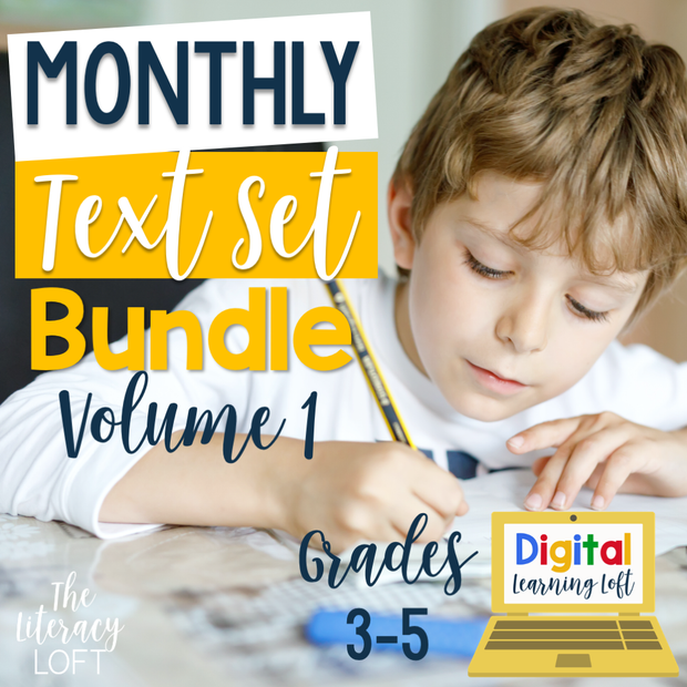 Monthly Text Sets (Bundle) | Distance Learning | Google Slides